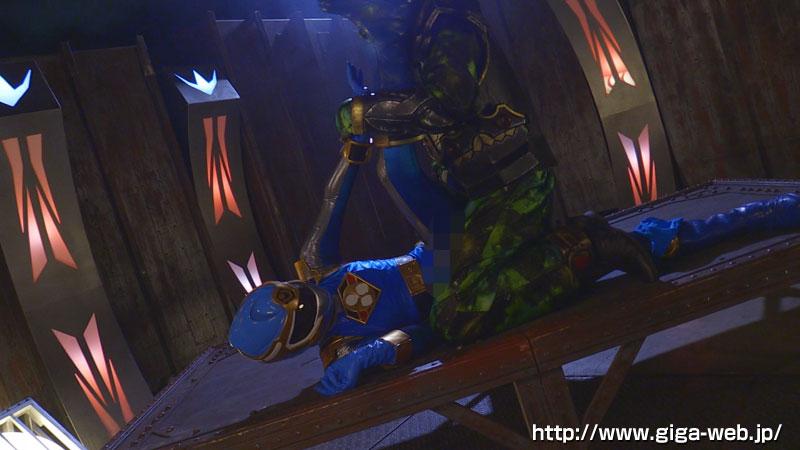完全着衣ヒロイン陥落04 飛影戦隊カゲレンジャー ~カゲブルーを襲う呪い地獄~017