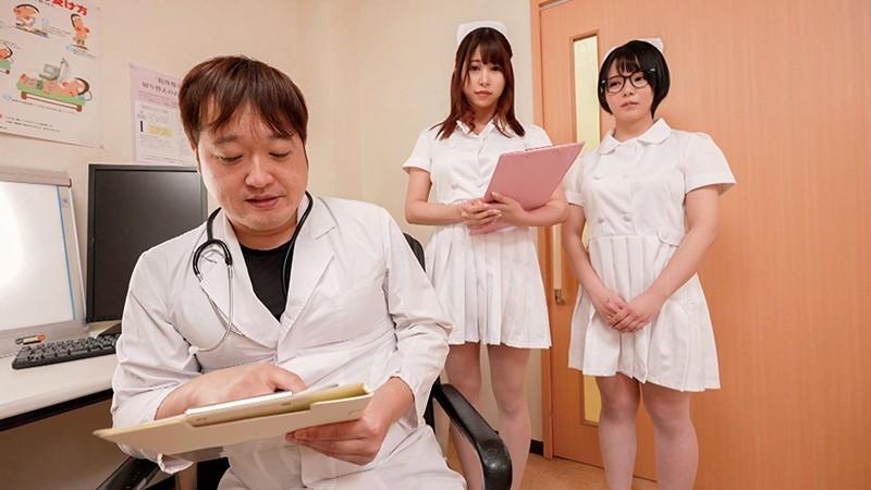 入院中は常に射精!エロ過ぎ白衣の巨乳ナース4人組